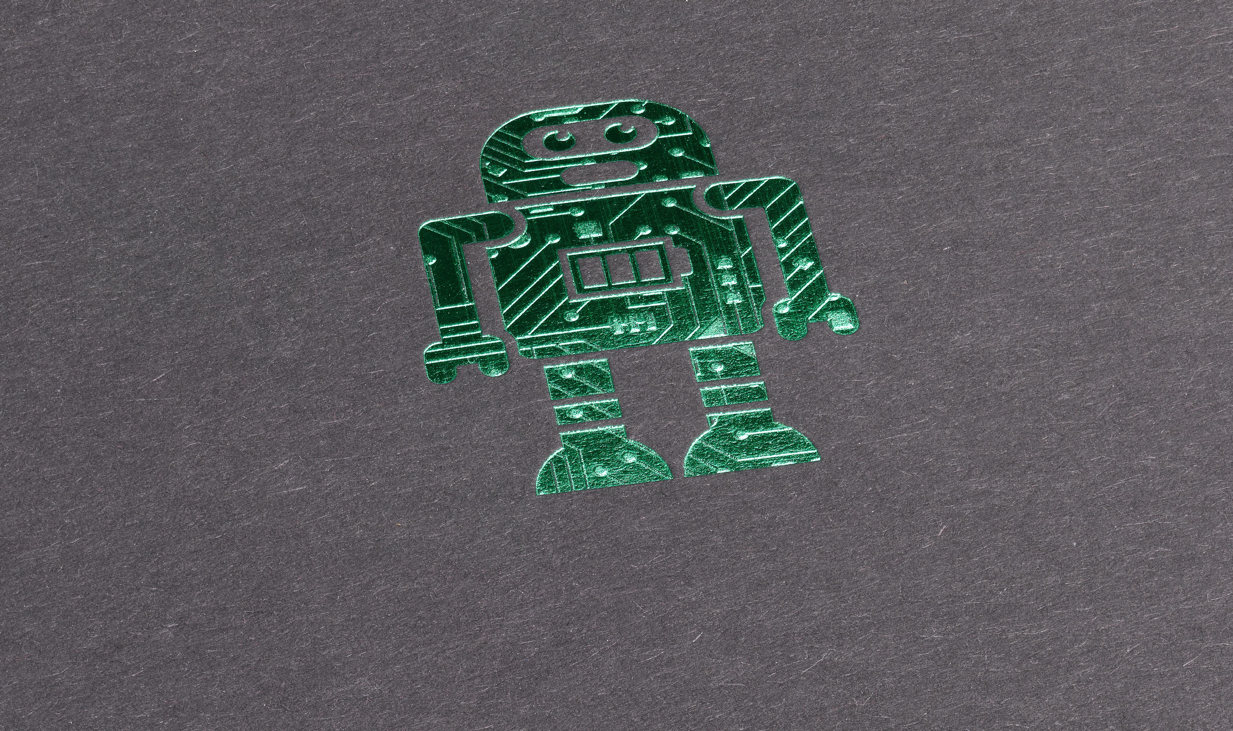 Prägefolie_Roboter grün