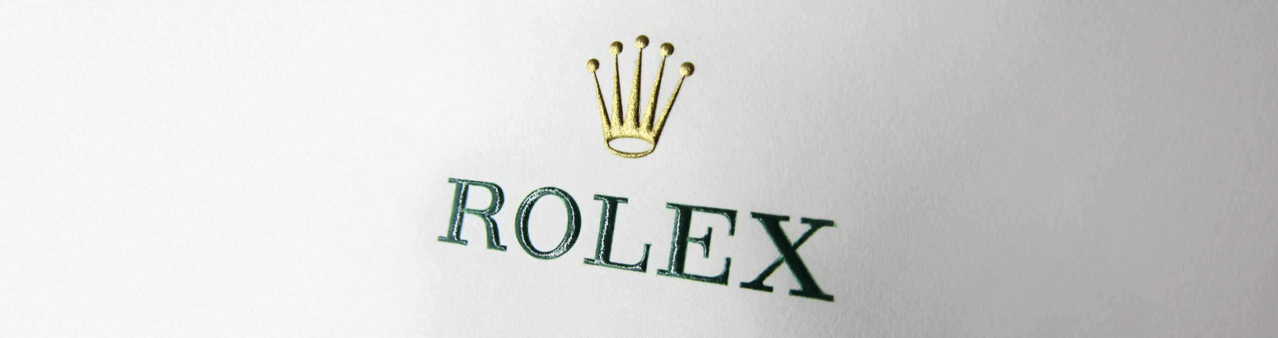 Stahlstich Rolex