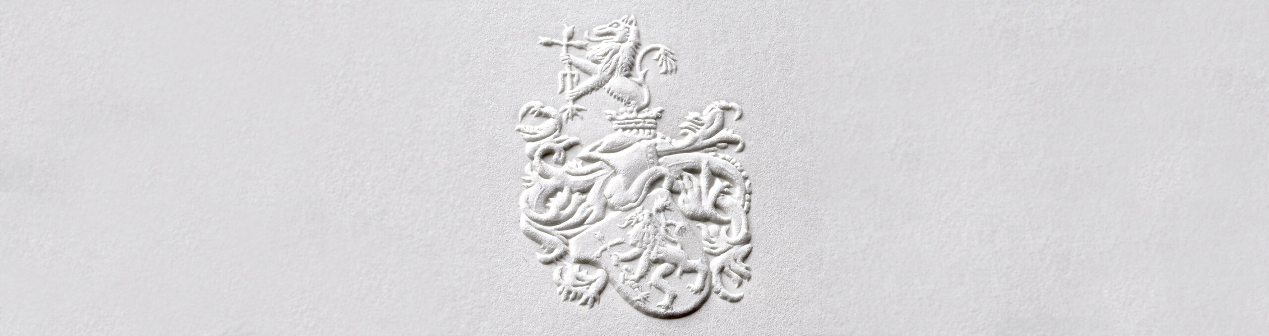 Blind Embossing Family Coat of Arms