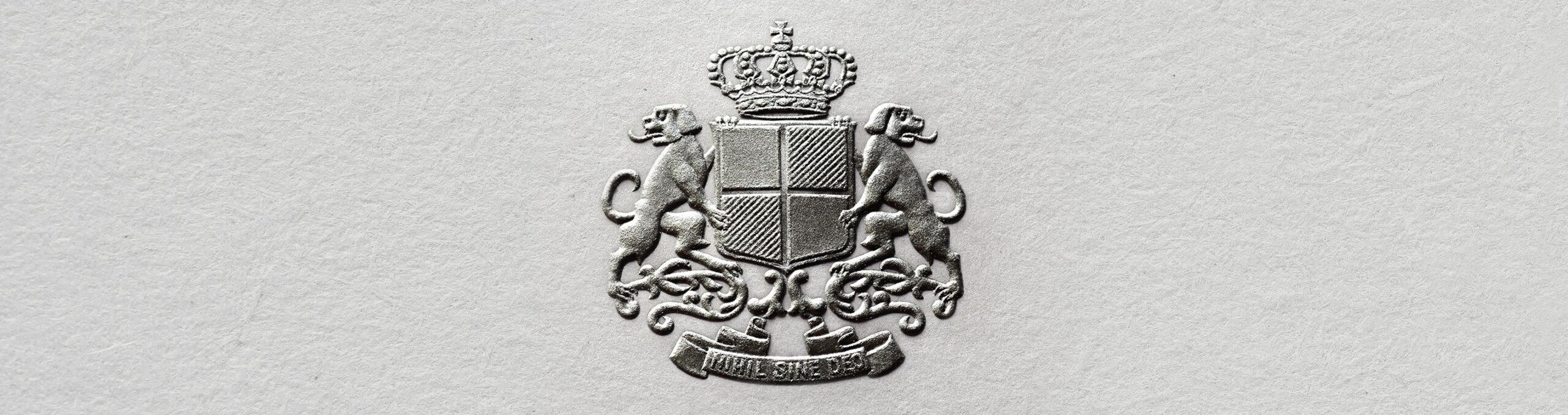 Stahlstichgravur Silber Sigmaringen